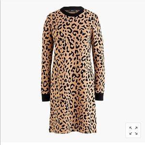 *BRAND NEW* J. Crew Leopard Print Sweaterdress